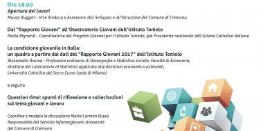 LA CONDIZIONE GIOVANILE IN ITALIA - Rapporto Giovani 2017 dell'Istituto Toniolo: Riflessioni e confronti su giovani e lavoro e sull'indicatore dei Neet